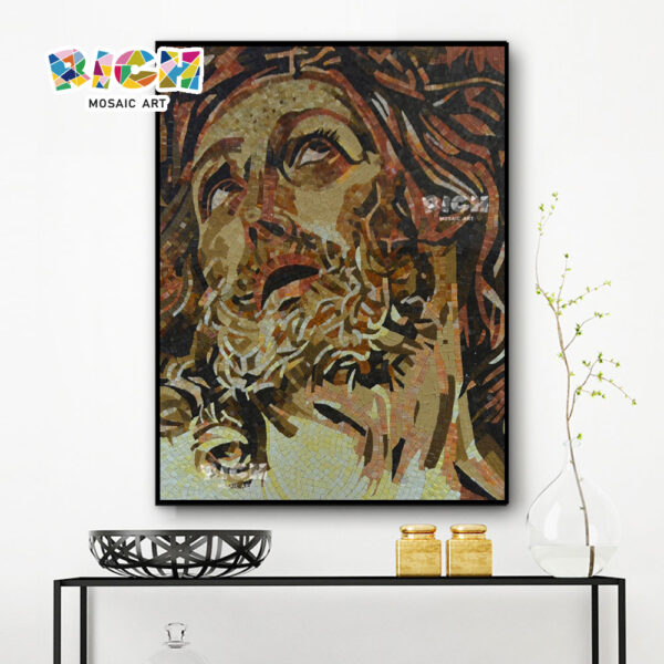 RM-RG07 Jesus Face Indoor Wall Mosaic Pattern