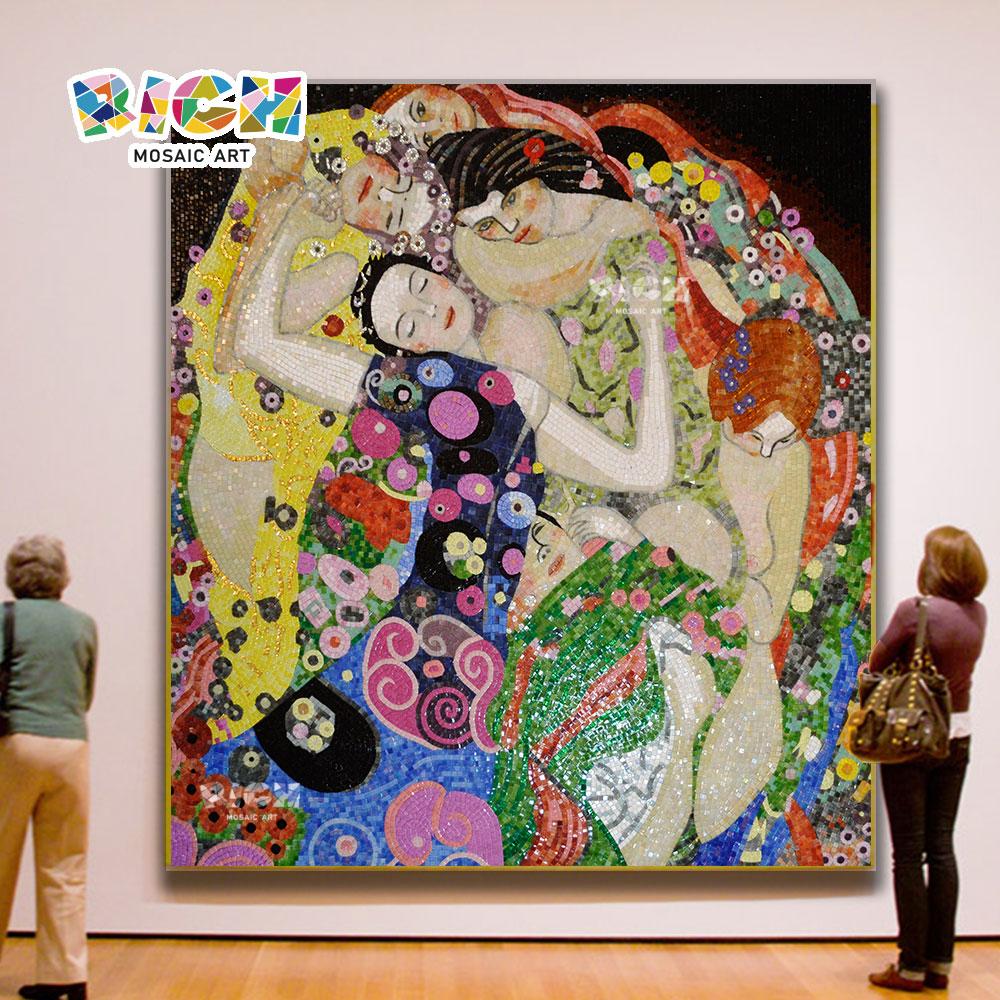 ความงามนามธรรม RM RG08 Klimt โอบกอดโมเสกภาพระดับไฮเอนด์