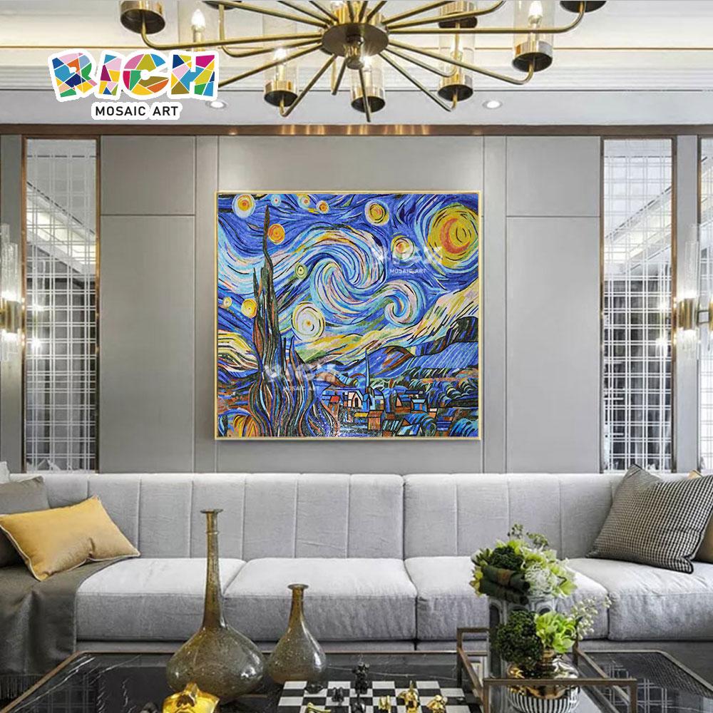RM-RG11 el lujo del patrón estrellado decorar pared de mosaico