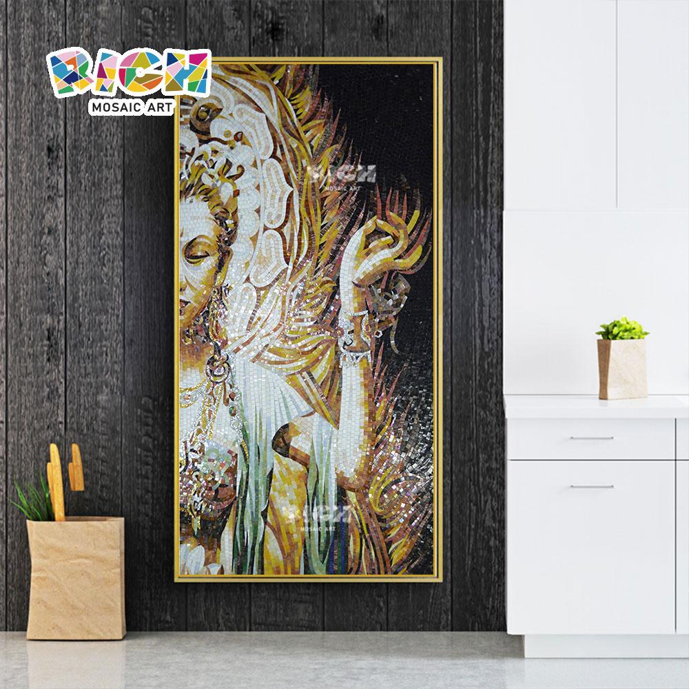 RM-RG12 mil mano Kwan-yin Idea de arte mosaico modificado para requisitos particulares