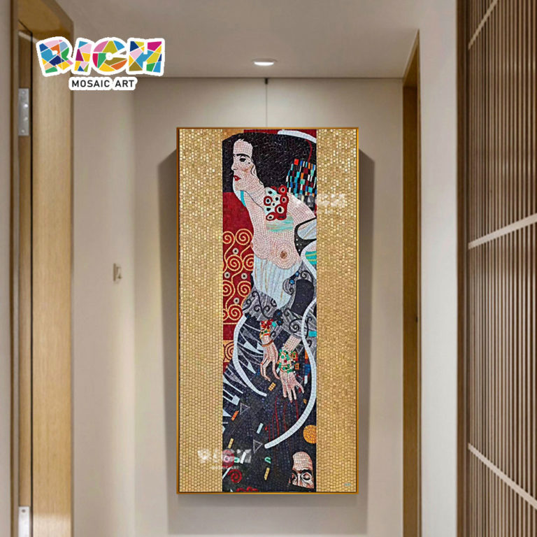 RM-RG13 Japanese Kimono Woman Art Background Wall Mosaic