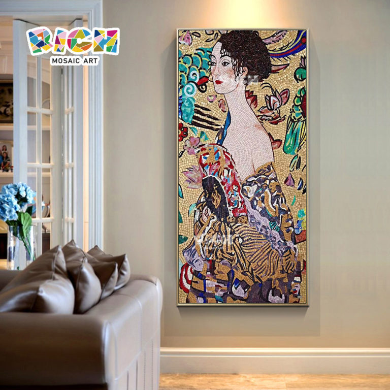 RM-RG14 Well-heeled Lady Sitting Room Mosaic Design Art