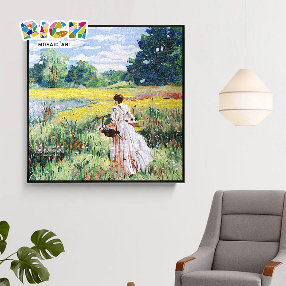RM-SC02 Schönheit im schönen Vorort feine Handwerk Mosaik Wandbild