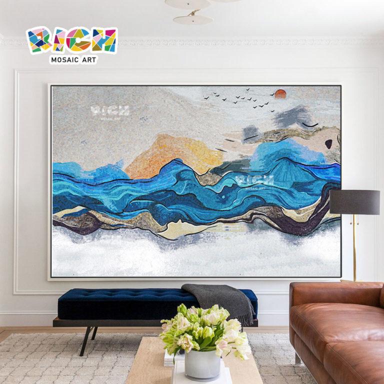 RM-SC03 estilo chinês cenário decoração mosaico mural backsplash