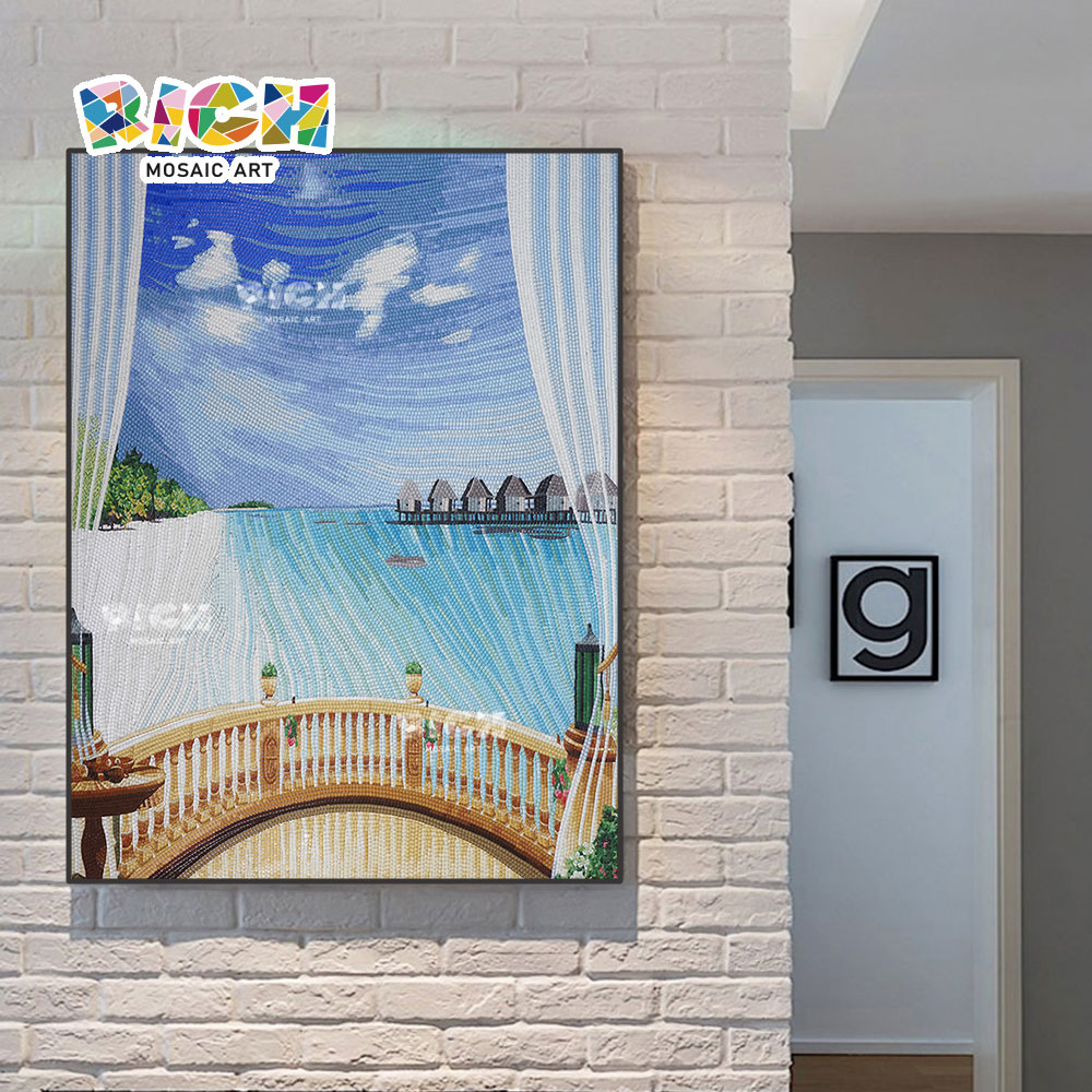 RM-SC05 Household Decorates Island Amorous Feelings Mosaic Artwork