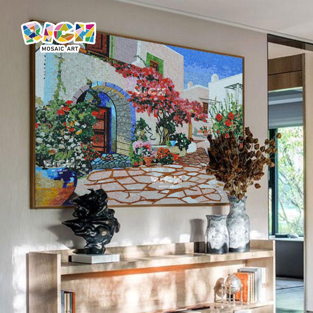 RM-SC09 Flowers Bloom Mediterranean Mosaic Foshan Tile Supplier