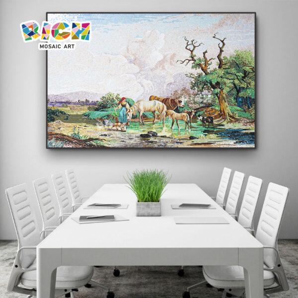 RM-SC20 mosaicos para salas pastoreo paisajes naturales suburbios Mural arte
