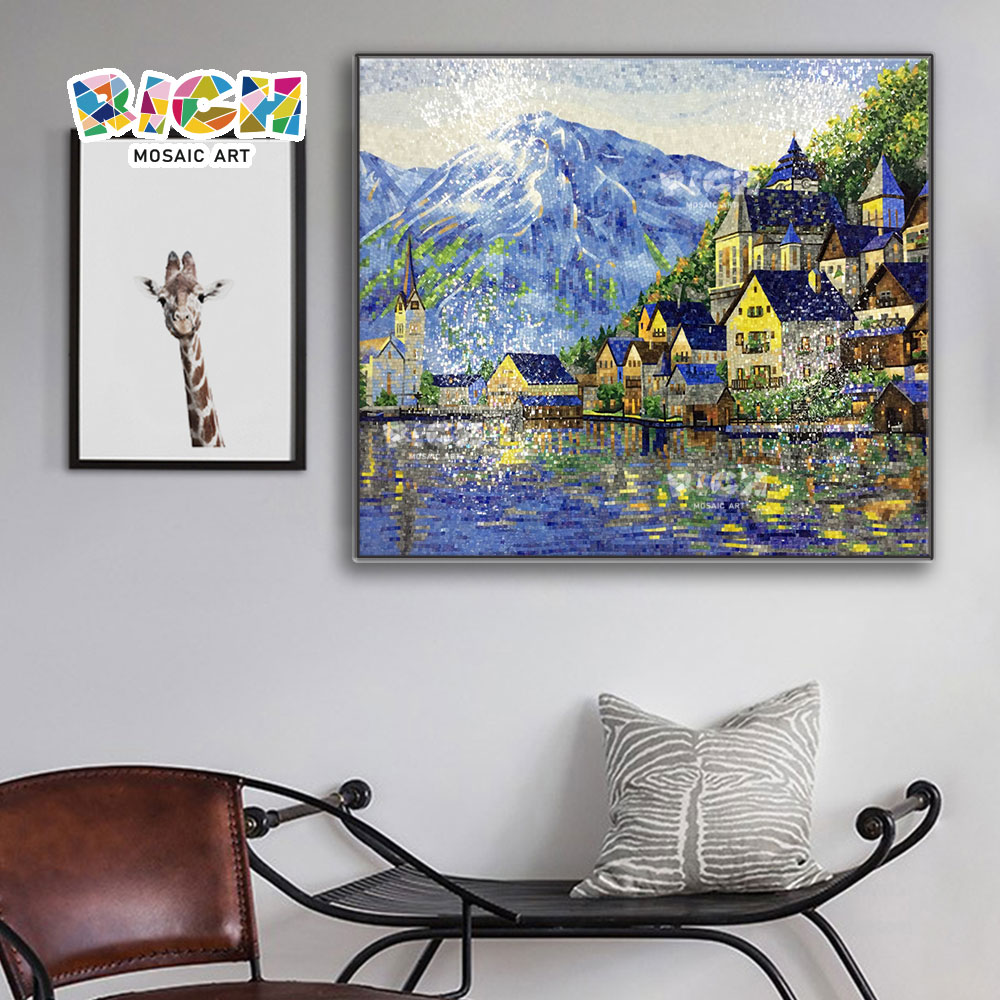 RM-SC21 Beautiful Scenery Iceberg Town Pattern Mosaic Art