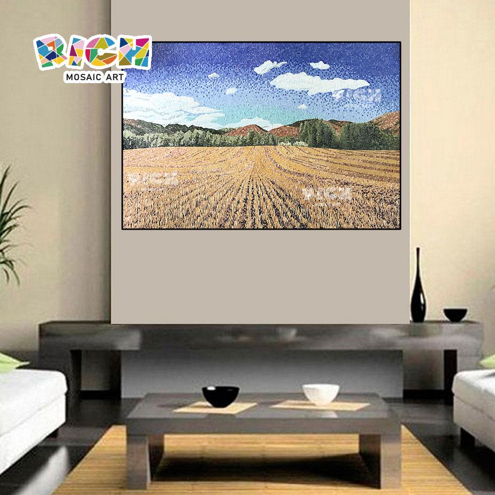 RM-SC26 campo paisaje diseño mosaico arte corte Mural
