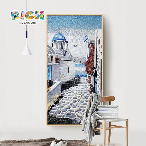 RM-SC28 Mosaico romántico de Creta Grecia para interior pared Backsplash decorar