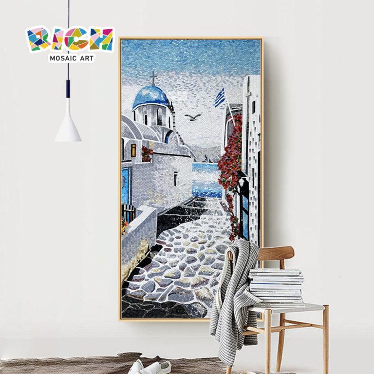 RM-SC28 Romantic Mosaic Of Crete Greece For Interior Wall Backsplash Decorate