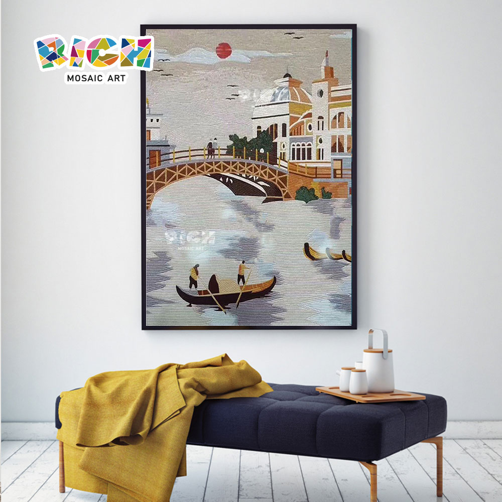 RM-SC30 Venice Water City Living Room Handmade Mosaic Pattern