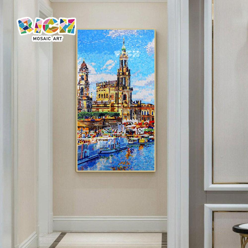 RM-SC31 โมเดิร์นยุโรปเมืองภูมิทัศน์ทัศนียภาพโมเสกภาพจิตรกรรมฝาผนัง
