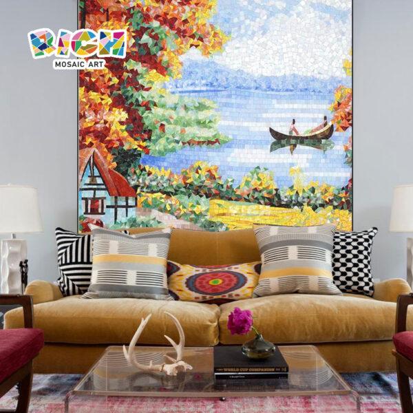 RM-SC33 Европейский Пейзаж ручной мозаики Mural