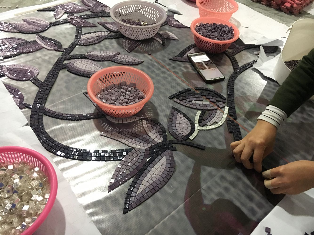 Handcraft mosaic art