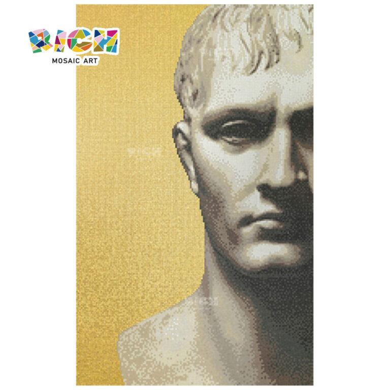 Head of Michelangelo's David Mosaic Wall Art