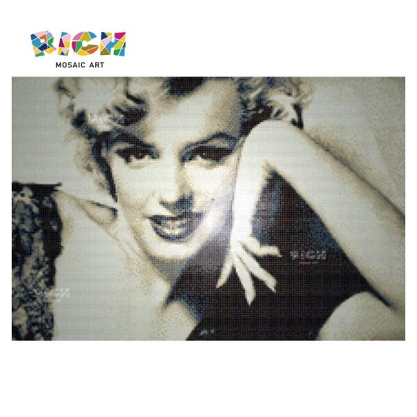 Marilyn Monroe Art Mosaic Photo Glass Panels