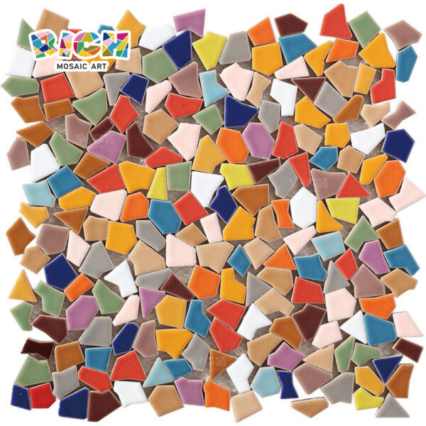 RM-CAT06 Mosaic Broken Glossy Colorful Irregular Free Mosaic Tile Pattern for Home
