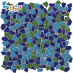 RM-CAT07 Deep Forest Style Northern Europe Decorative Background of Broken Mosaic Tiles