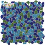 RM-CAT07 Fondo decorativo del norte de Europa del norte de Europa de azulejos de mosaico rotos