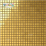 RM-SG02 Flat Gold Glass Mosaic Tile for Handcraft Mural Art