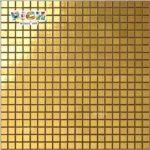 Rm-SG02 Carreaux de mosaïque en verre doré plat pour art mural artisanal