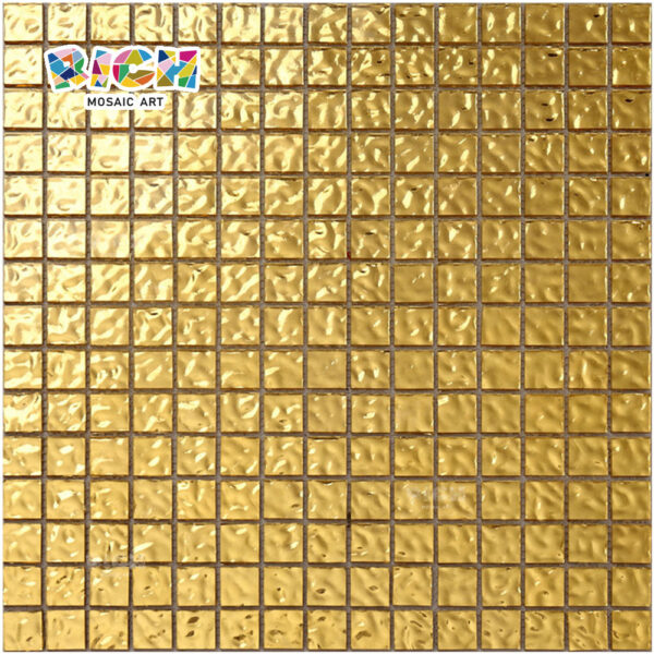 RM-SG05 High Quality Bottom 24K Foil Gold Mosaic for Luxury Swimming Pool