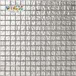 RM-SG06 White Gold Tiles Italy Craft Wave Texture Mosaic