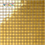 RM-SG07 Uitstekende Real Gold Mosaic Sheet voor 5 Star Hotel Project