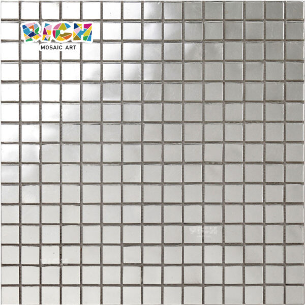 RM-SG08 Plain White Gold Fire Glass Waterproof Tiles for Bathroom Floor and Wall