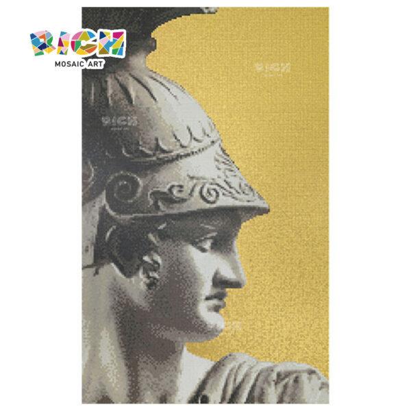 Parede de fundo de mosaico estilo corte romana