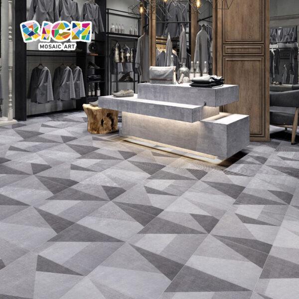 300X300mm antideslizante tela gris amarillo ladrillo texturizado para suelo interior y exterior