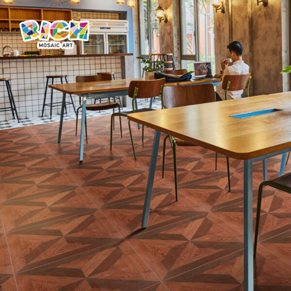 Античный деревянный зерновой этаж плитки для ресторана и кафе
