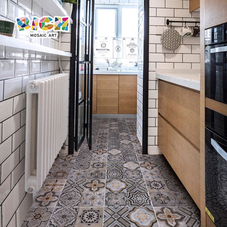 Resistencia a la suciedad y absorción de agua cemento moderno Floret azulejo