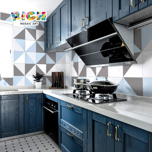 Forme géométrique Triangulaire Pattern Ceramic Luxury Wall Tile