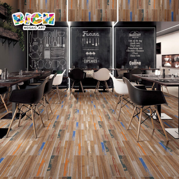 Rétro Color Paint Art Old Ship Wood Grain Tiles
