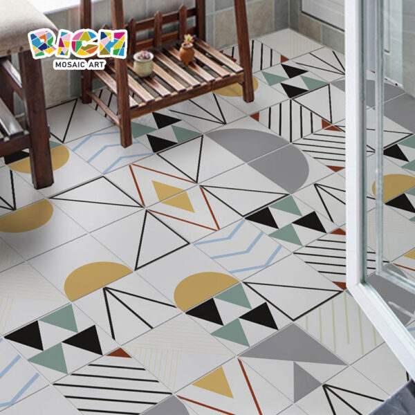 Abstract Ceramic Balcony Special Water Absorption Non-slip Ceramic Tile