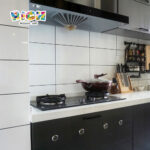Ceramic Grosss Tile for Kichen Wall Backsplash Easy Clean Tiles