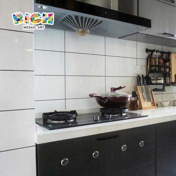 Carreaux bruts en céramique pour kichen wall backsplash facile tuiles propres
