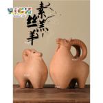 RM-CSF02 Cerámica China Preciosa Cordero Decoración De la familia de regalo Opción de regalo