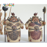 RM-CSF04 Antigos Deuses Chineses serão figuras cerâmicas (Hum Ha 2 Generais) Puro Feito à Mão