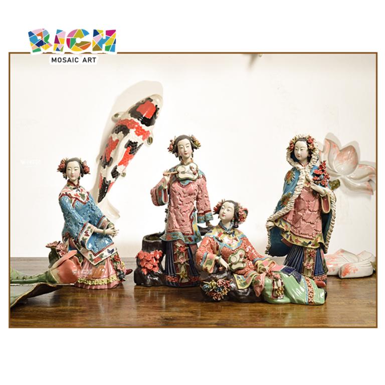 RM-CSF05 zitkamer versiering Chinese traditionele handwerk maakt keramiek 4 Schoonheden