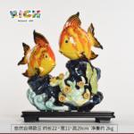 RM-CSF06 Interessante Decoração cerâmica de peixe dourado chinês arte artesanal tradicional