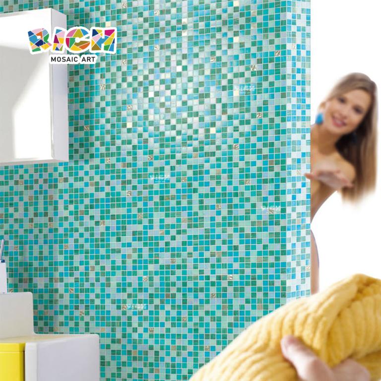 RM-HMG05 Hot-melt Glass Simple but Elegant Popular Bathroom Wall Mosaic