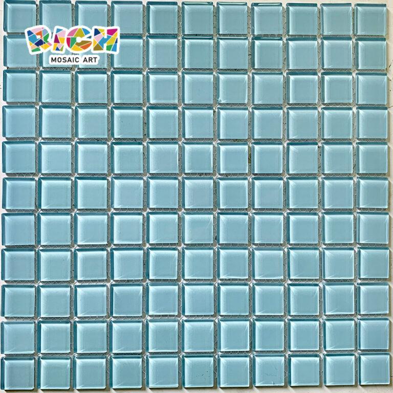 RM-CMP01 Hellblaue Kristallmosaikfliese für Schwimmbad