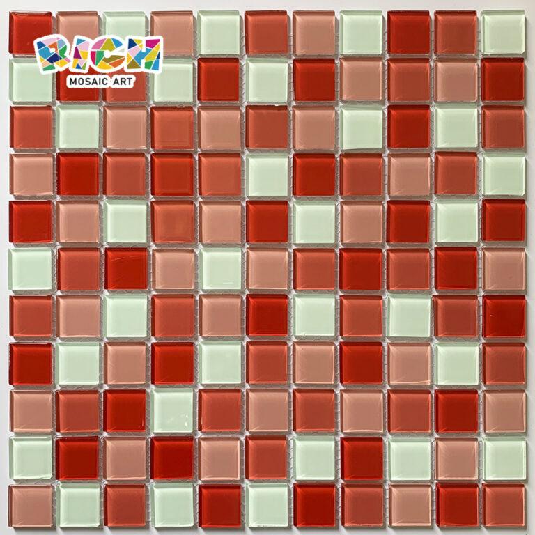 RM-CMP21 Bar Decorar mosaico azulejo misto vermelho e branco cor