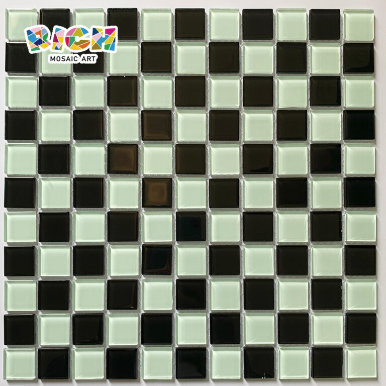 RM-CMP22 Clássico Branco Azulejo de Mosaico Preto Misto para Restaurante