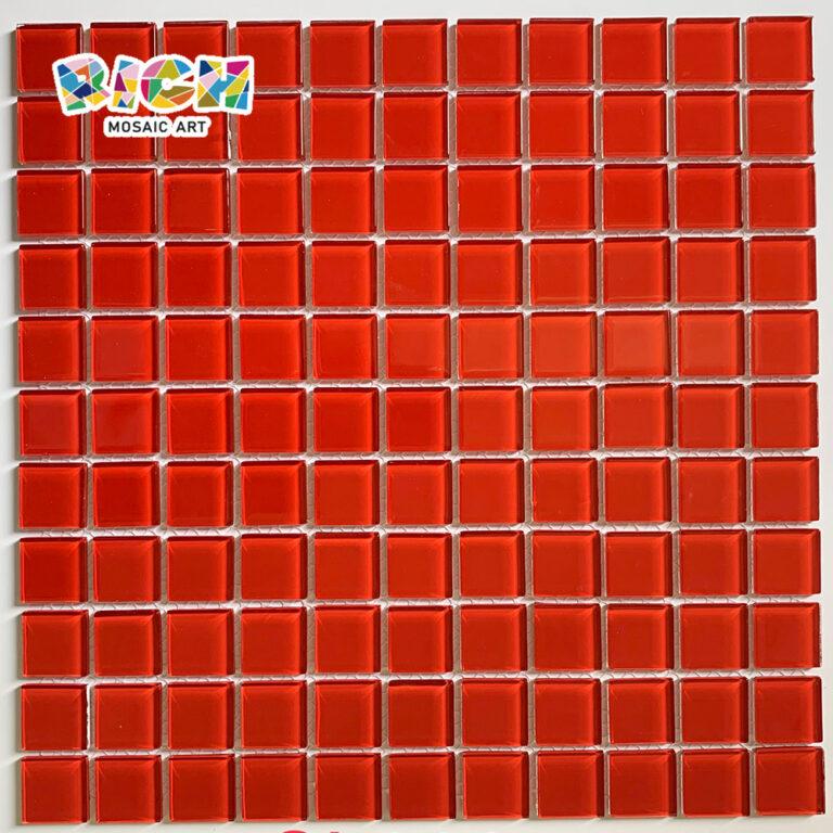 RM-CMP24 Baldosas rojas para la decoración de la pared del hogar tipo de vidrio mosaico