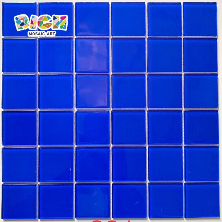 RM-CMP28 Belo Mosaico de Vidro Azul em 48 MM Chip