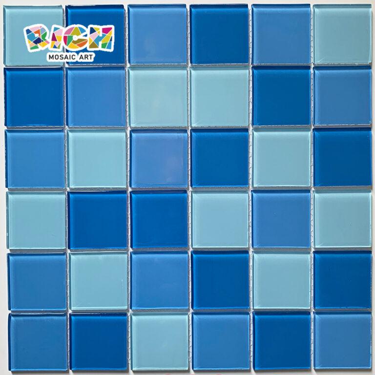 RM-CMP29 Водный город Украшайте плитку синей смешанной стеклянной мозаикой